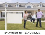 blank real estate sign and... | Shutterstock . vector #114295228