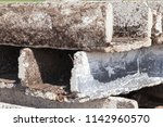 old dirty obsolete concrete... | Shutterstock . vector #1142960570