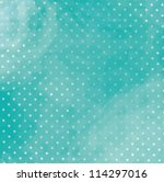 Turquoise Polka Dot Background