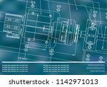 mechanical engineering drawings ... | Shutterstock .eps vector #1142971013