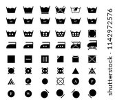 set laundry dry icons | Shutterstock .eps vector #1142972576