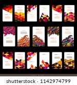 abstract geometric business... | Shutterstock .eps vector #1142974799
