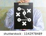 tactics and strategic plan.... | Shutterstock . vector #1142978489