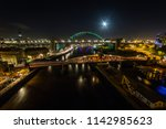 newcastle upon tyne at night ... | Shutterstock . vector #1142985623