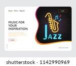landing page web design jazz... | Shutterstock .eps vector #1142990969
