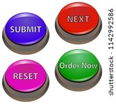 set of buttons for websites and ... | Shutterstock .eps vector #1142992586