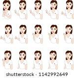 thai woman cartoon | Shutterstock .eps vector #1142992649