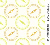 seamless pattern with compass... | Shutterstock .eps vector #1142993180