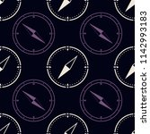 seamless pattern with compass... | Shutterstock .eps vector #1142993183