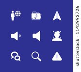9 interface icon set with...