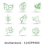 ecology icon set. eco icons.... | Shutterstock .eps vector #114299404