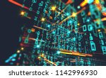 wallpaper of binary code... | Shutterstock . vector #1142996930