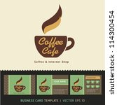 coffee cafe icon logo and... | Shutterstock .eps vector #114300454