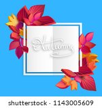 blue and white autumn... | Shutterstock .eps vector #1143005609