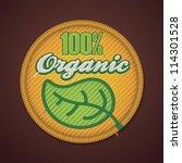vector 100  organic fabric badge | Shutterstock .eps vector #114301528