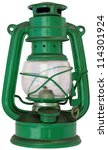Green Petroleum Lamp Isolated...