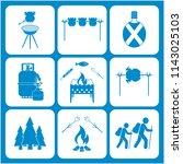 set of travel equipment icons....   Shutterstock .eps vector #1143025103