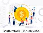 flat design concept group of... | Shutterstock .eps vector #1143027356
