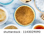 different kinds of sugar and... | Shutterstock . vector #1143029090