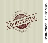 red confidential distressed... | Shutterstock .eps vector #1143045806