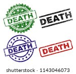 death seal prints with damaged... | Shutterstock .eps vector #1143046073