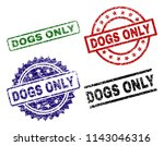 dogs only seal prints with...   Shutterstock .eps vector #1143046316