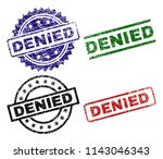 denied seal prints with... | Shutterstock .eps vector #1143046343