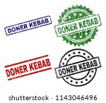 doner kebab seal prints with... | Shutterstock .eps vector #1143046496
