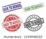back to school seal prints with ... | Shutterstock .eps vector #1143048233