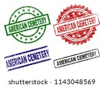 american cemetery seal prints... | Shutterstock .eps vector #1143048569