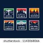 vector color travel patch set. | Shutterstock .eps vector #1143068066