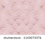 luxury rose gold diamonds... | Shutterstock .eps vector #1143073376