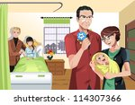 a vector illustration of a... | Shutterstock .eps vector #114307366