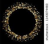confetti vector round frame.... | Shutterstock .eps vector #1143074483