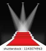 red carpet for celebrities ... | Shutterstock .eps vector #1143074963