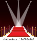 red carpet for celebrities ... | Shutterstock .eps vector #1143074966
