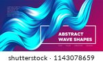 abstract flow background. wave... | Shutterstock .eps vector #1143078659