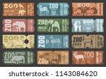 zoo tickets template design... | Shutterstock .eps vector #1143084620