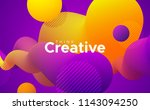 abstract fluid gradient shapes. ... | Shutterstock .eps vector #1143094250