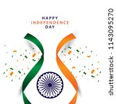 happy india independence day... | Shutterstock .eps vector #1143095270