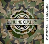 genuine quality on camo pattern | Shutterstock .eps vector #1143096380