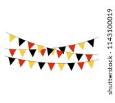 black  red  and gold bunting... | Shutterstock .eps vector #1143100019