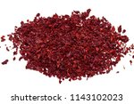 Pieces Of Dry Red Tea On White...