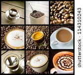 Background Of Coffee Collage