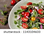 salad with purslane and cherry... | Shutterstock . vector #1143104633