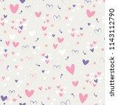 cute heart dots star vector... | Shutterstock .eps vector #1143112790