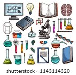 science and laboratory research ... | Shutterstock .eps vector #1143114320