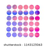 circle gradient set with modern ... | Shutterstock .eps vector #1143125063