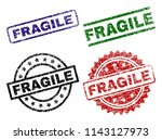 fragile seal stamps with... | Shutterstock .eps vector #1143127973