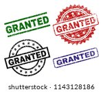 granted seal prints with... | Shutterstock .eps vector #1143128186